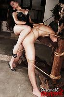 Hot spanking and fuck from TS Juliana