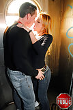 Sex with a tgirl in a public toilet