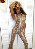 Ebony tgirl shows her hot body