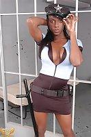 Ebony cutie in a cell