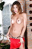 Tranny With Fake Boobs Posing & Showing Cock
