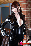 Sexy European Tranny Wearing Latex