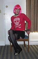 Amateur Sissy Slut in a Hotel