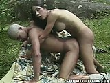 Tgirl pleases a guy outdoor