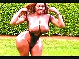 Hot Oiled Black Tgirl Solo