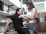 Tranny cutie fucking in a kitchen
