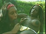 Ebony tranny fucks latina