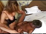 TS in corset gets pleased by 2 blokes
