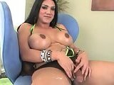 Busty babe with brutal dick showing us