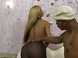 Ebony fucker for a titty tranny