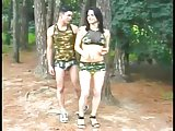 Forest sex with a latina Tgirl