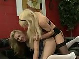 Hardcore act with a blonde tranny and a chick