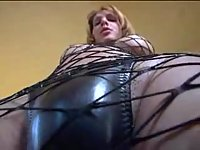 Horny Tranny In Body Fishnet Hot Wanking