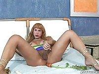 TS Paty Bionda In Erotic Solo