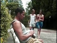 Shemale In Outside Anal Trio Loving