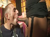 Wet shemale hole got fucked