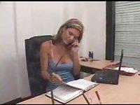 Hot masturbation at office