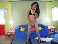 Hot schoolgirl solo after school