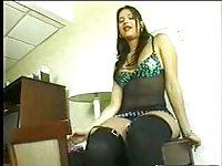 Horny bitch serves big penis