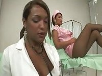Hot TS nurses fuck at the hospital