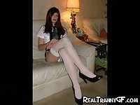Real Teen Tranny GFs Compilation
