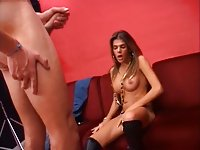 Latina teen is hot in action