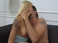 Hot blonde tranny gets fucked