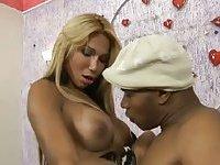 Ebony fucker for a titty tranny