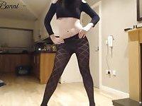 Sexy Crossdresser in Black Crop Top