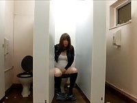 Lucy Fox in the Girl's Toilet