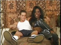 Ebony tranny became a lover of a white stud