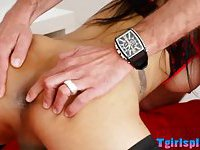 Brunette TS Nicole Fernandes anal riding