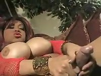 Black tranny bitch pleases her lover chap