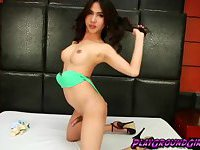 Sweet tranny chick Poppy feeling very horny