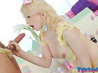 Lustful TS Sarina Valentina anal pounded