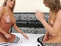 Kinky shemales Julia and Bianca play