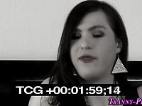 Tgirl cums during fuck