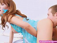 Busty ladyboys tight ass drilled raw