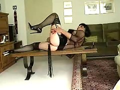 Sexy Crossdresser Plays With Lash at gotranny.com