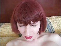 Redhead shemale strong dildo fucking at sexodirectory.com