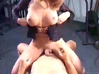 Titty Blonde Riding Stiff Prick