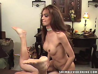 Posh Shemale Slut Creamed After Screwing