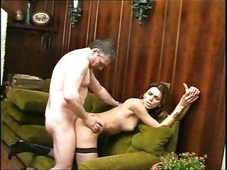 Old big dong lecher strives for brunette sweet tranny