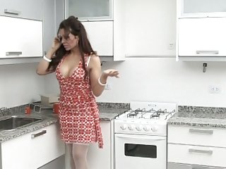 Transsexual Blowjobs In The Kitchen
