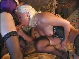 Sexy blondes with cocks fucking