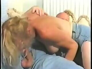Bald fucker for sexy blonde