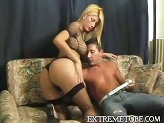 Hot blonde riding a cock