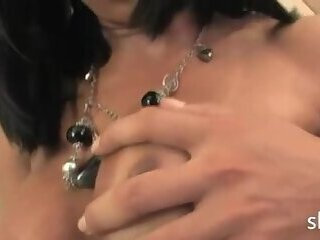 Charming shemale having cock eated