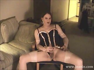 Mature CD Joanie HT Black and Pink Bustier