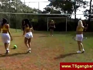 Hot T-Girls Playing Outside